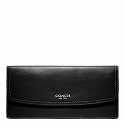 COACH F47990 Soft Wallet In Leather SILVER/BLACK