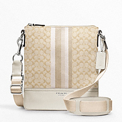 COACH F48001 - SIGNATURE STRIPE SWINGPACK ONE-COLOR