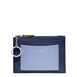 COACH F48011 Colorblock Medium Skinny SILVER/NAVY/CHAMBRAY