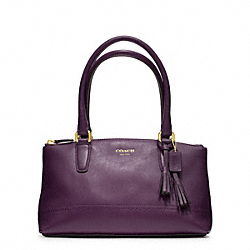 COACH F48016 Legacy Leather Mini Rory Bag BRASS/BLACK VIOLET