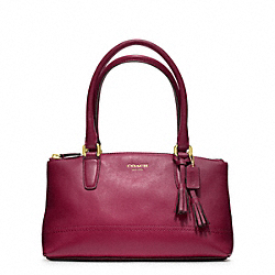 COACH F48016 Legacy Leather Mini Rory Bag BRASS/DEEP PORT