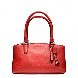 COACH F48016 - RORY MINI LEATHER BAG SILVER/CARNELIAN