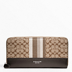 COACH F48032 Signature Stripe Accordion Wallet