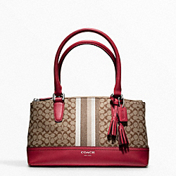 COACH F48040 Signature Stripe Mini Rory Bag