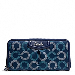 COACH F48051 Ashley Dotted Op Art Zip Around