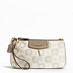 COACH F48053 Ashley Dotted Op Art Large Wristlet
