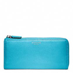 COACH F48178 Slim Leather Zip Wallet SILVER/ROBIN
