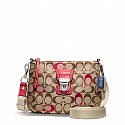 COACH F48425 Poppy Embroidered Signature Swingpack