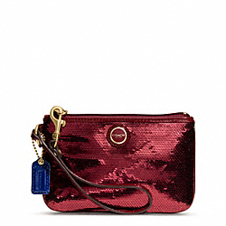 COACH F48429 Poppy Sequin Small Wristlet