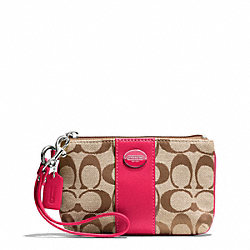 COACH F48435 Small Wristlet In Signature Fabric