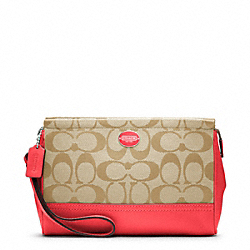 COACH F48442 Signature Large Wristlet