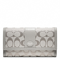 COACH F48445 Signature Checkbook Wallet