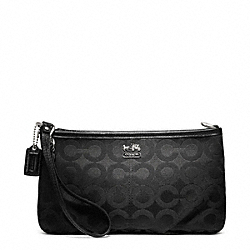 COACH F48543 Madison Op Art Sateen Large Wristlet