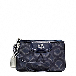 COACH F48575 Madison Op Art Ikat Small Wristlet SILVER/NAVY