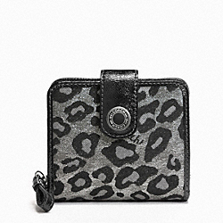 COACH F48596 Signature Ocelot Metallic Slim Medium Wallet