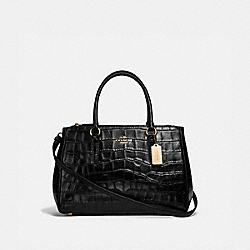 LARGE SURREY CARRYALL - F48619 - BLACK/IMITATION GOLD