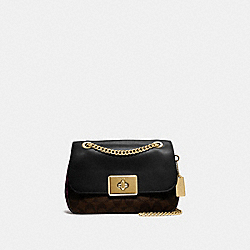 CASSIDY CROSSBODY IN SIGNATURE CANVAS - F48620 - BROWN BLACK/MULTI/IMITATION GOLD