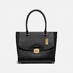 AVARY TOTE - F48629 - BLACK/IMITATION GOLD