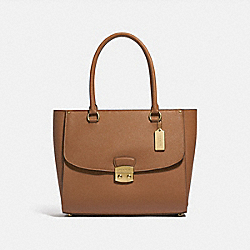 AVARY TOTE - F48629 - LIGHT SADDLE/IMITATION GOLD