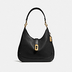 AMBER HOBO - F48635 - BLACK/IMITATION GOLD
