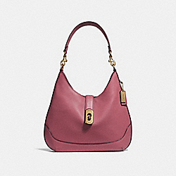 AMBER HOBO - F48635 - STRAWBERRY/LIGHT GOLD