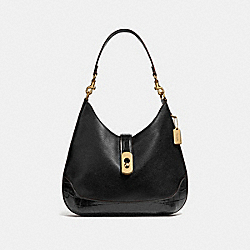 AMBER HOBO - F48636 - BLACK/IMITATION GOLD