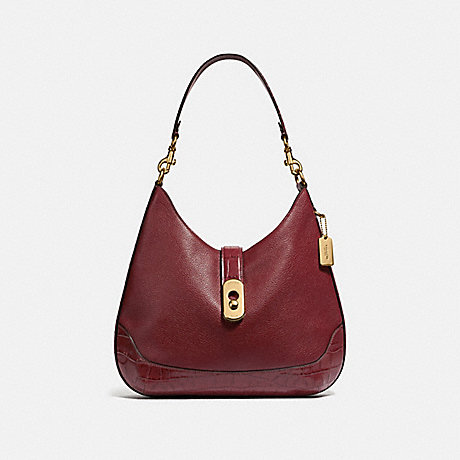 COACH F48636 AMBER HOBO WINE/IMITATION GOLD