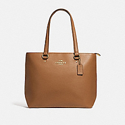 COACH F48637 - BAY TOTE LIGHT SADDLE/IMITATION GOLD