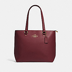 COACH F48637 - BAY TOTE WINE/IMITATION GOLD