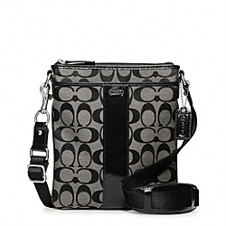 COACH F48639 Signature Swingpack SILVER/BLACK/WHITE/BLACK