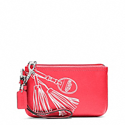 COACH F48695 Motif Small Wristlet SILVER/WATERMELON