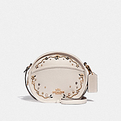 COACH F48732 - CANTEEN CROSSBODY WITH STARDUST CRYSTAL RIVETS CHALK MULTI/IMITATION GOLD