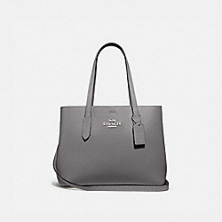 COACH F48733 - AVENUE CARRYALL HEATHER GREY/OXBLOOD 1/SILVER