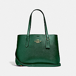 COACH F48734 Avenue Carryall JADE/METALLIC SEA GREEN/GOLD