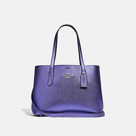COACH F48734 AVENUE CARRYALL<br>蔻驰AVENUE包 金属长春花/光色,紫色,银