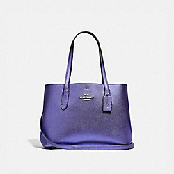 AVENUE CARRYALL - F48734 - METALLIC PERIWINKLE/LIGHT PURPLE/SILVER