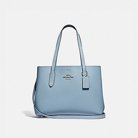 COACH F48734 AVENUE CARRYALL CORNFLOWER/METALLIC-MIDNIGHT/SILVER