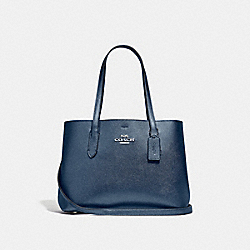 COACH F48734 - AVENUE CARRYALL METALLIC MIDNIGHT NAVY/BLACK/SILVER