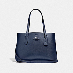 COACH F48734 - AVENUE CARRYALL SV/METALLIC BLUE CADET