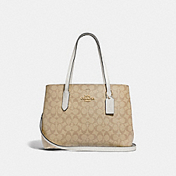 AVENUE CARRYALL IN SIGNATURE CANVAS - F48735 - LIGHT KHAKI/CHALK/IMITATION GOLD