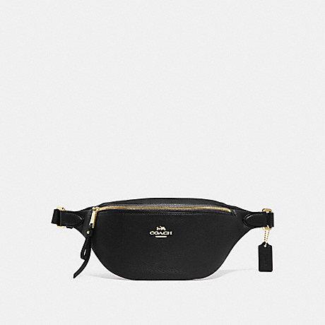 COACH F48738 BELT BAG BLACK/GOLD