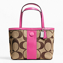 COACH F48798 - SIGNATURE STRIPE TOP HANDLE TOTE ONE-COLOR