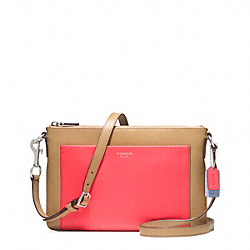 COLORBLOCK LEATHER EAST/WEST SWINGPACK - f48872 - F48872SVB41