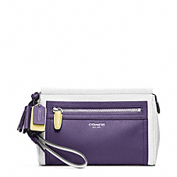 COACH F48875 Colorblock Leather Large Wristlet