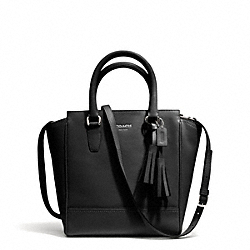 COACH F48894 Leather Mini Tanner Crossbody SILVER/BLACK