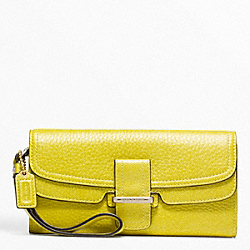 COACH F48924 Madison Flagship Pebble Slim Envelope GOLD/KIWI