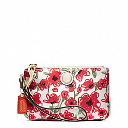 COACH F48950 Poppy Flower Print Small Wristlet