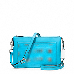 SWINGPACK IN PERFORATED LEATHER - f48979 - F48979SVBCO