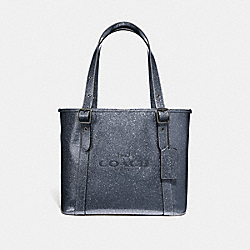 COACH F49056 - SMALL FERRY TOTE WITH GLITTER GUNMETAL/BLACK ANTIQUE NICKEL