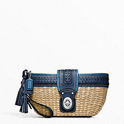 COACH F49104 Straw Clutch With Turnlock